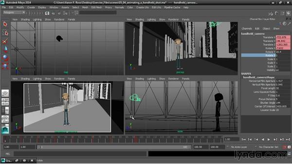 Animating a handheld camera shot: Cinematography in Maya