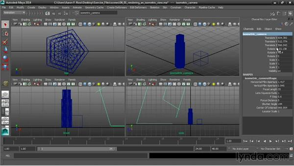 Rendering an isometric view: Cinematography in Maya