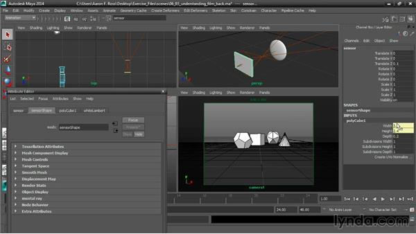 Understanding the Film Back: Cinematography in Maya