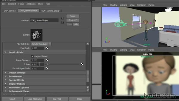 Adding distance blur with Depth of Field: Cinematography in Maya