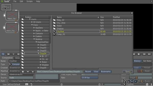 Exercise Files: Entertainment Creation Suite: Getting Started with Toxik