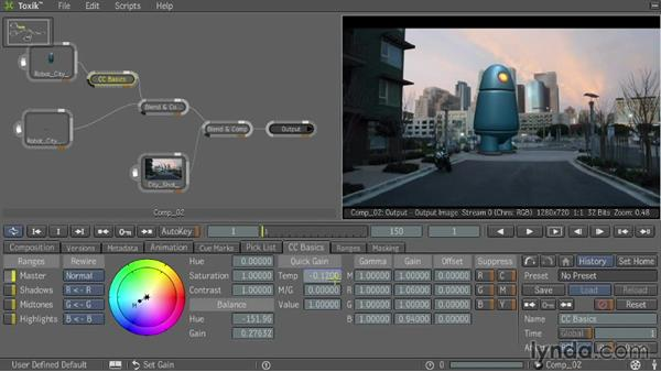 Correcting color: Entertainment Creation Suite: Getting Started with Toxik