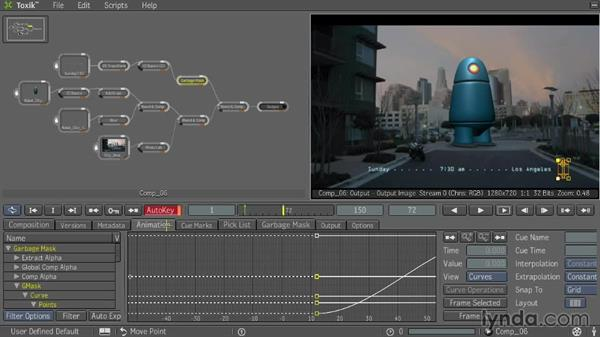 Animating parameters: Entertainment Creation Suite: Getting Started with Toxik