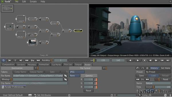 Rendering final output: Entertainment Creation Suite: Getting Started with Toxik
