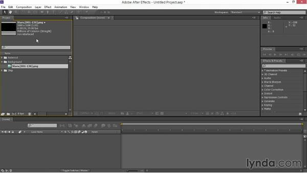 Setting up the project: VFX Techniques: Space Scene 02: Compositing in After Effects