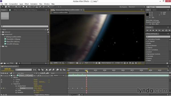 Adding fake motion blur: VFX Techniques: Space Scene 02: Compositing in After Effects