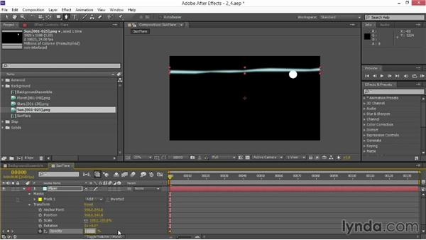 Creating glows and flares: VFX Techniques: Space Scene 02: Compositing in After Effects
