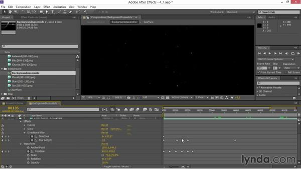 Assembling the asteroid layers: VFX Techniques: Space Scene 02: Compositing in After Effects