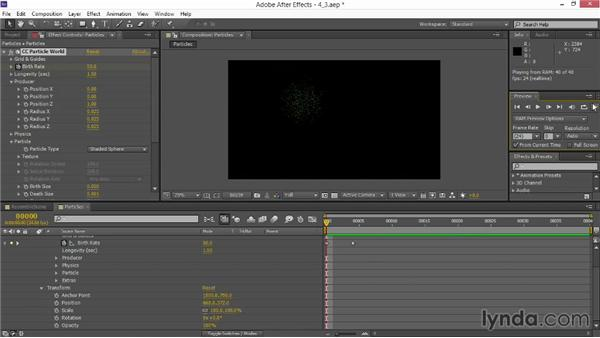 Adding After Effects particles: VFX Techniques: Space Scene 02: Compositing in After Effects