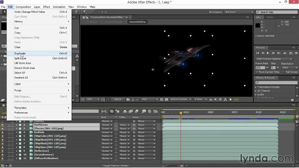 Color grading the ship and improving alpha edges: VFX Techniques: Space Scene 02: Compositing in After Effects