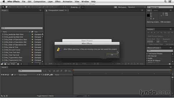How to use the exercise files: After Effects Expressions: Getting Started
