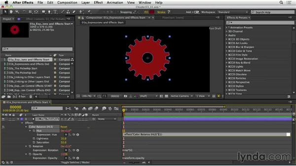 Applying expressions to effects: After Effects Expressions: Getting Started