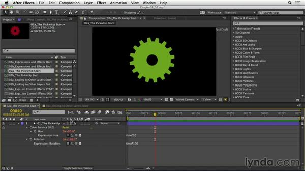 Introducing the pick whip: After Effects Expressions: Getting Started