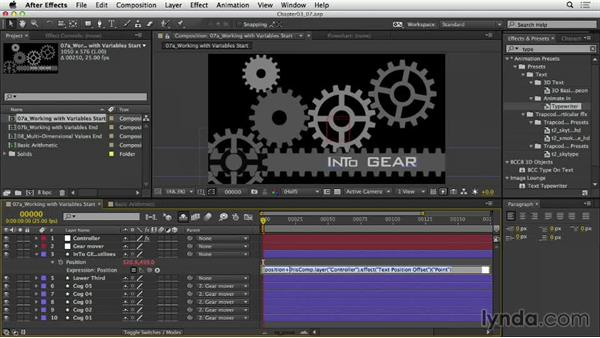 Simplifying expressions with variables: After Effects Expressions: Getting Started