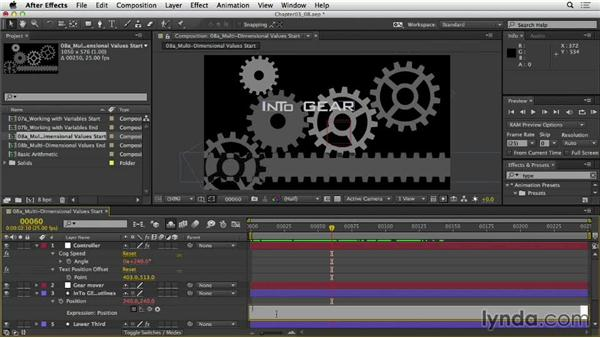 Understanding multidimensional values and arrays: After Effects Expressions: Getting Started