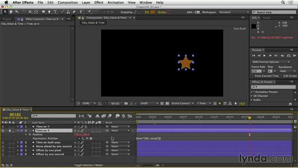Referring to value and time: After Effects Expressions: Getting Started