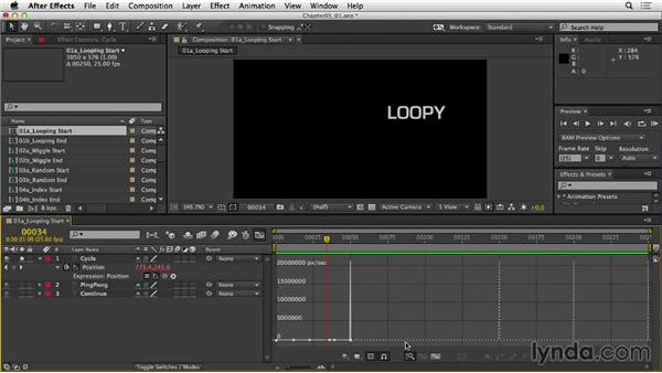 Creating looping animations: After Effects Expressions: Getting Started