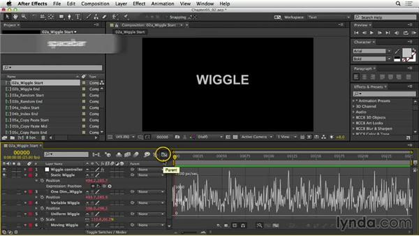 Wiggling the position of objects: After Effects Expressions: Getting Started