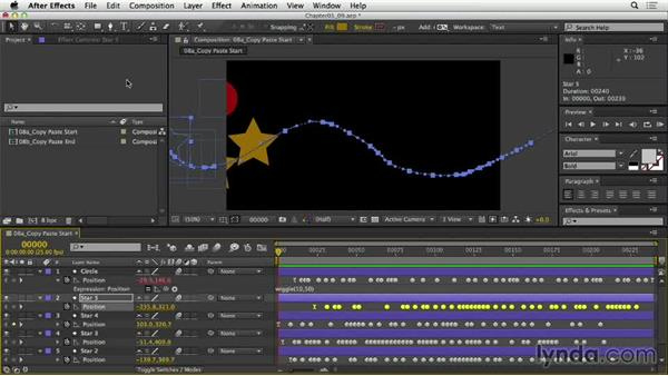 Copying and pasting expressions: After Effects Expressions: Getting Started