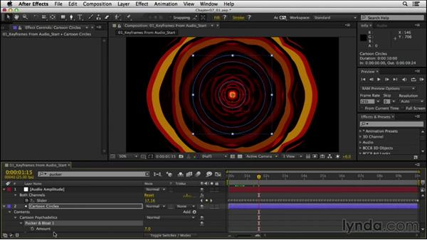 Creating keyframes from audio: After Effects Expressions: Getting Started