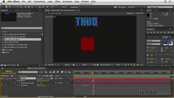Linking 2D and 3D properties: After Effects Expressions: Getting Started