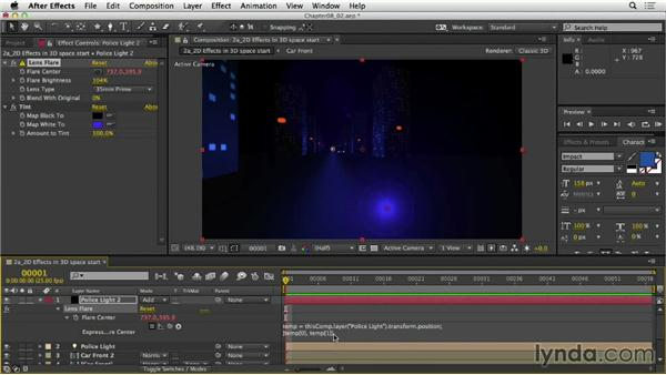 Controlling 2D effects in 3D space: After Effects Expressions: Getting Started