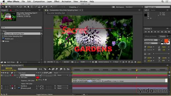 Sampling color from an image: After Effects Expressions: Getting Started