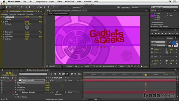 Making control panels for color: After Effects Expressions: Getting Started
