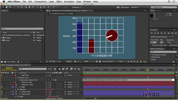 Displaying values as numbers: After Effects Expressions: Getting Started