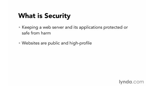 What is security?: Foundations of Programming: Web Security