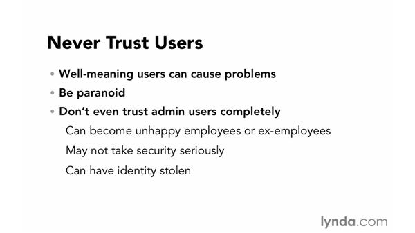 Never trust users: Foundations of Programming: Web Security