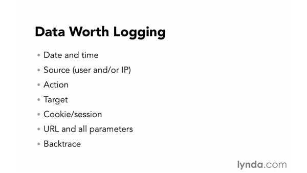 Smart logging: Foundations of Programming: Web Security