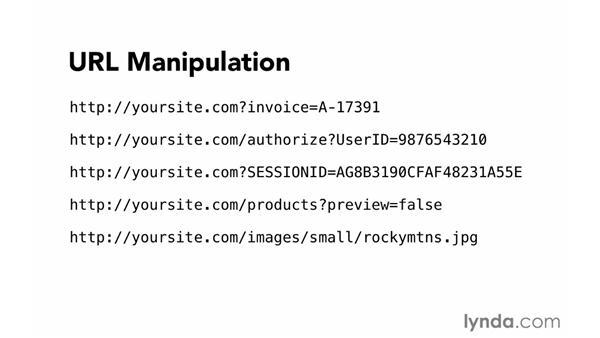 URL manipulation: Foundations of Programming: Web Security