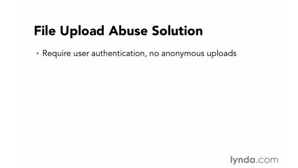 File-upload abuse: Foundations of Programming: Web Security