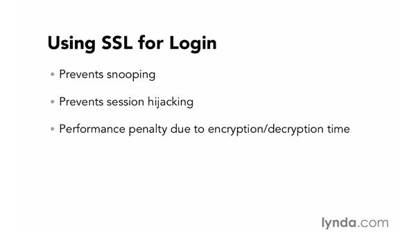Using SSL for login: Foundations of Programming: Web Security