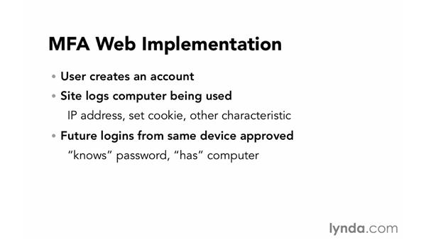 Multi-factor authentication: Foundations of Programming: Web Security