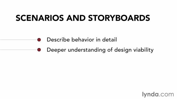 What are the uses of scenarios and storyboards?: UX Design Techniques: Creating Scenarios and Storyboards