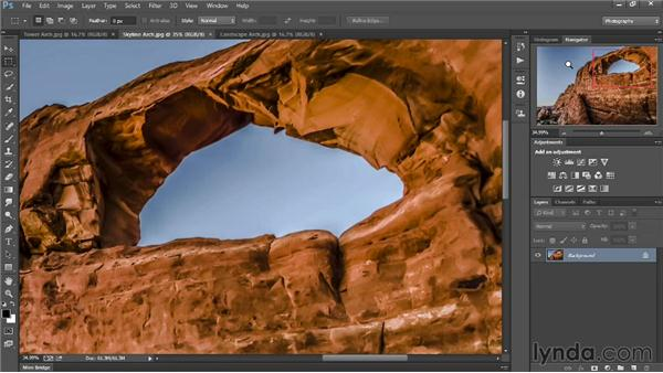 Understanding the Photography workspace: Introducing Photoshop: Photography