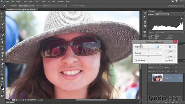 Adjusting brightness and contrast: Introducing Photoshop: Photography