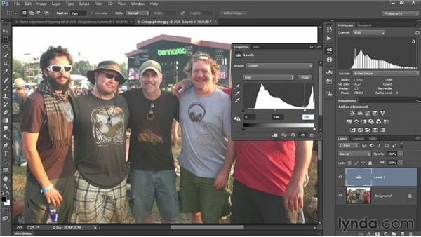 Adjusting levels and hues: Introducing Photoshop: Photography