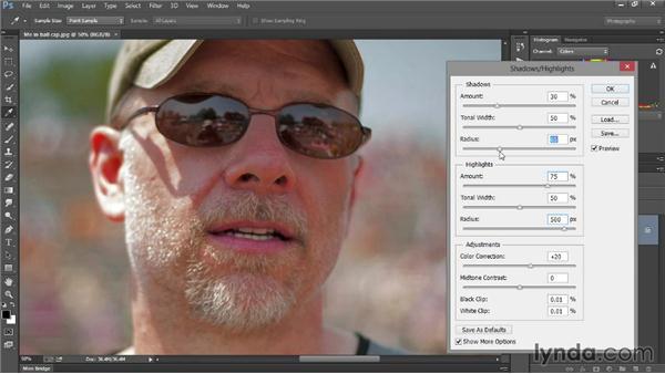 Enhancing shadows and highlights: Introducing Photoshop: Photography