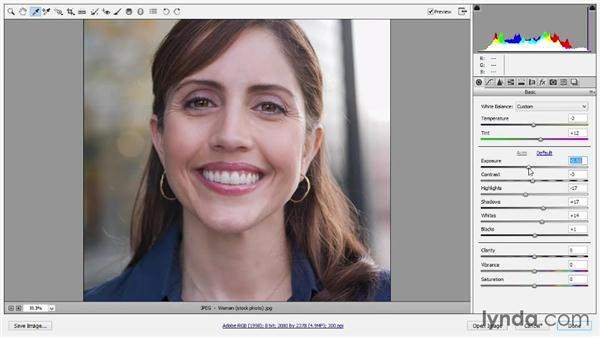 Editing a JPEG image in Camera Raw: Introducing Photoshop: Photography