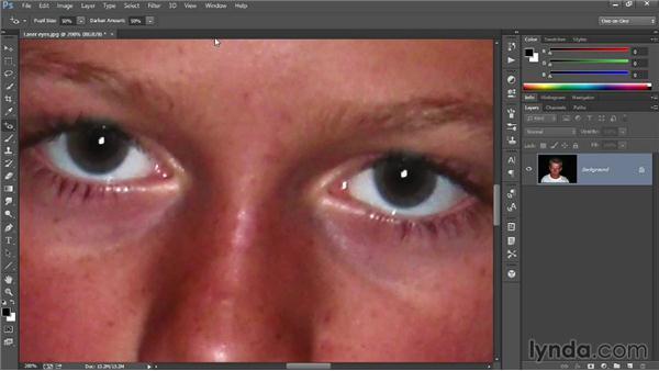 Correcting red-eye: Introducing Photoshop: Photography