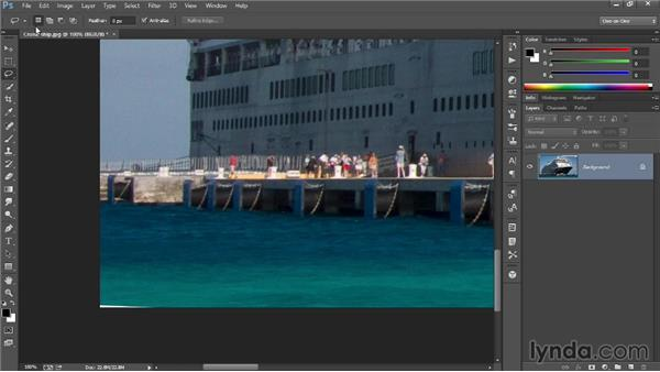 Straightening a crooked photograph: Introducing Photoshop: Photography