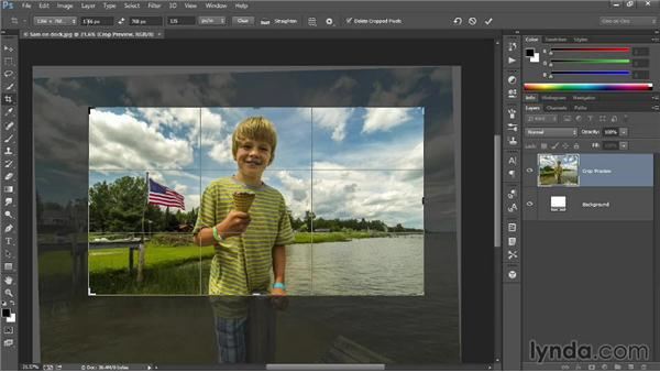 Cropping without deleting pixels: Introducing Photoshop: Photography