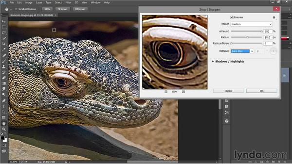 Sharpening details in an image: Introducing Photoshop: Photography