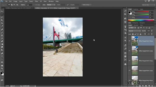 Making a panorama: Introducing Photoshop: Photography