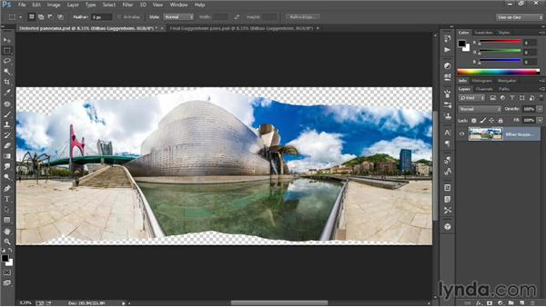Correcting a distorted panorama: Introducing Photoshop: Photography