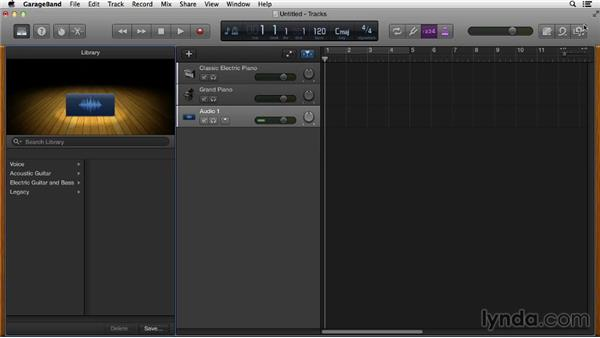 Understanding the difference between Software and Real Instrument loops: GarageBand Essential Training