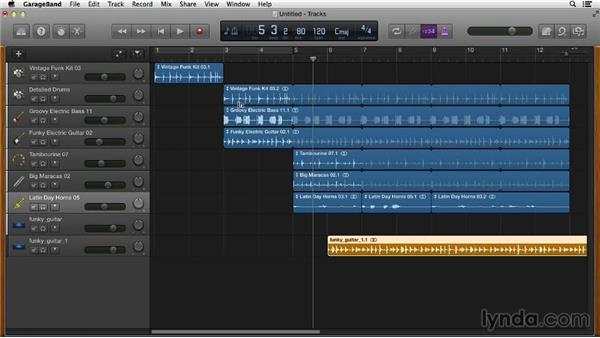 Importing audio tracks: GarageBand Essential Training